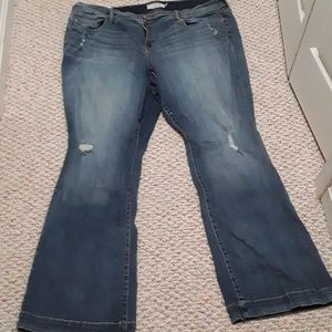 Torrid Xtra tall worn once distressed jeans